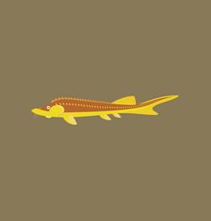 in flat style sturgeon vector image