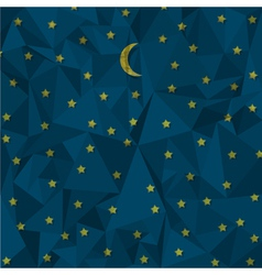 Night sky made from crumpled paper vector image vector image