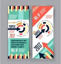 Colorful roll up business vertical template vector image vector image