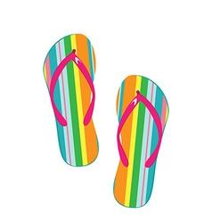 Flip flops icon vector image vector image