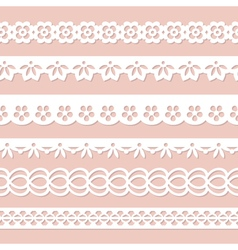 collection of seamless laces vector image