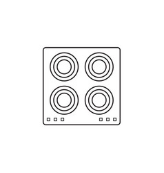 Electric hot plate icon cooking panel vector