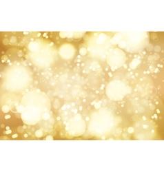 golden bokeh background abstract defocused bright vector image vector image