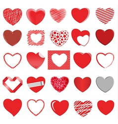 heart style set 2 vector image vector image