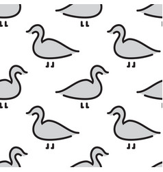 kids seamless pattern bird duck vector image vector image