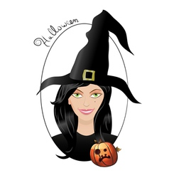 smiling halloween witch vector image