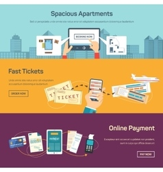 reserving tickets online vector image