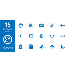 15 template icons vector