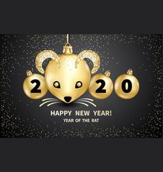 2020 year rat vector image