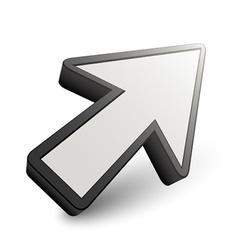 3D arrow pointer vector