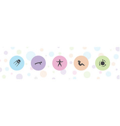 5 core icons vector