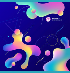 abstract colorful plastic shapes with geometric vector image