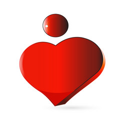 Abstract heart love person vector