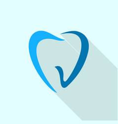 abstract tooth logo icon flat style vector image