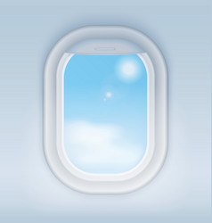 Aircraft airplane realistic window vector