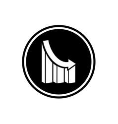analytics round flat icon vector image