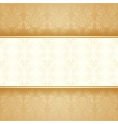 Background golden decorative vector