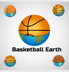 basketball logo for the team and the cup vector image