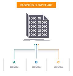 Binary code coding data document business flow vector