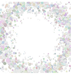 Blank abstract dispersed confetti circle vector