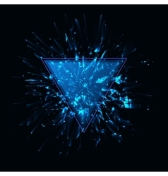 Blue techno style explosion vector