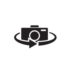 camera 360 icon graphic design template vector image