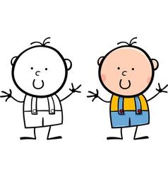 cartoon cute funny little boy vector image