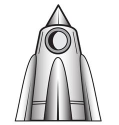 Cartoon space craft vector