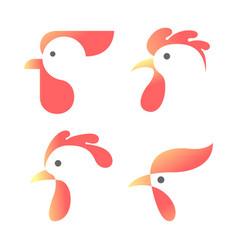 chicken animal logo or icon vector image