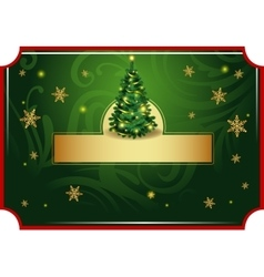 Classic Christmas card vector