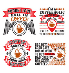 coffee quote and saying set bundle best for print vector image
