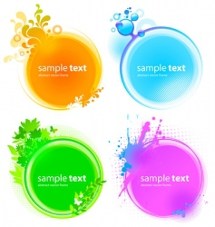 color round frames vector image