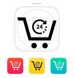 Convenience store icon vector image