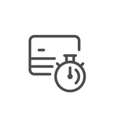 credit card transaction time line icon vector image