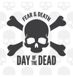 day dead print skull and bones logo or vector image