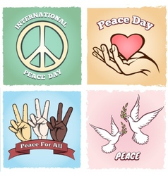 Day of Peace posters vector image