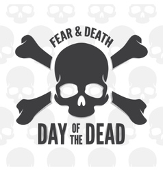 Day of the dead print Skull and bones logo or vector