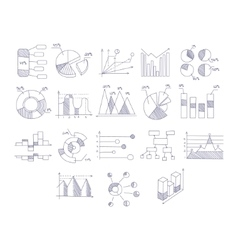 Different Type Of Hand Drawn Charts Set vector image