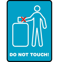 Do not touch vector