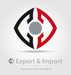 Export and import business icon vector image