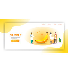 family doctor nutritionist explaining to patients vector image