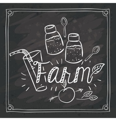 Farm food design vector image