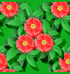 flower seamless pattern backround 3d elements vector image