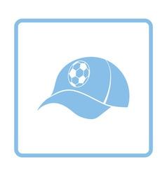 Football fans cap icon vector