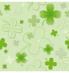 Four Leaf Clover Pattern vector image