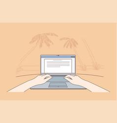 Freelance coding communication remote work vector