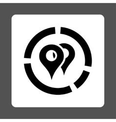 Geo Diagram Icon vector