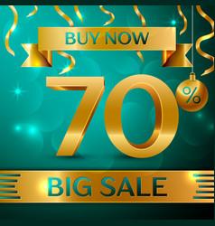 Gold big sale seventy percent for discount vector
