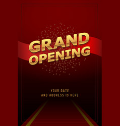 Grand opening invitation concept luxury design vector