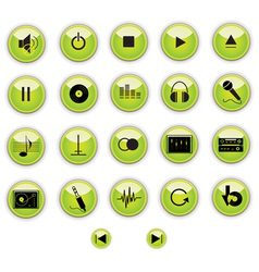 Green Button vector image
